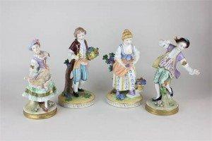 Dresden porcelain figures