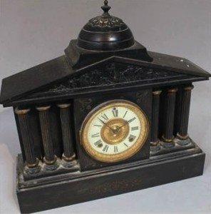 black slate mantel clock,