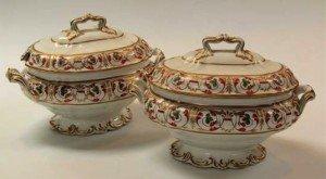 English porcelain sauce tureens