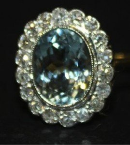 oval cluster ring