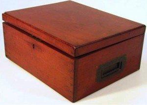 mahogany deeds box
