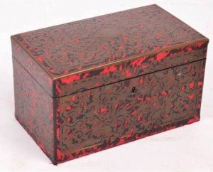 two division tea caddy