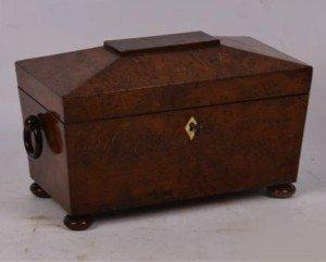 sarcophagus tea caddy