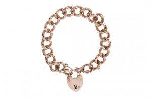 gold belcher-link chain