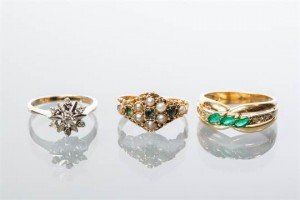 gold dress rings