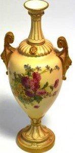 blush ivory vase