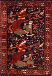 Turkman pictorial rug