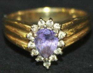 pear shaped cluster ring