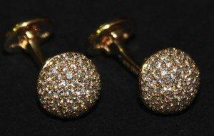 diamond set dress cufflinks
