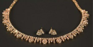 diamond set collar necklace