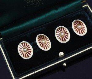 seed pearl set cufflinks