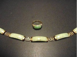 gold and jade bracelet