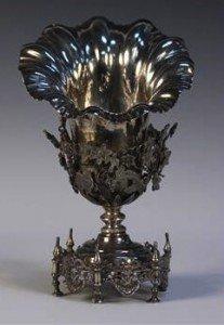 parcel gilt vase