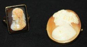 sardonyx cameo ring,