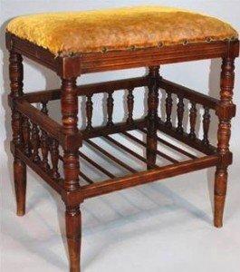 framed piano stool