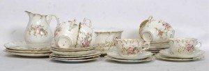 Victorian china tea service