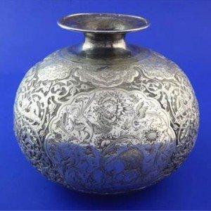 Persian silver vase