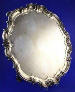 large silver salver