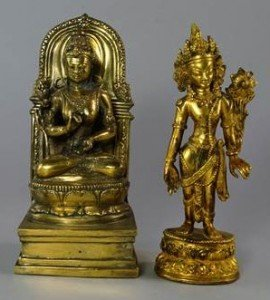 gilt bronze figure