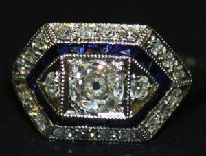 sapphire set ring