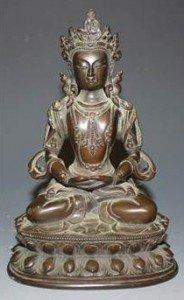 bronze figure of Amitayus