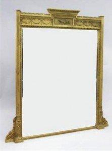 rectangular overmantel mirror