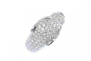 gem-set panther ring