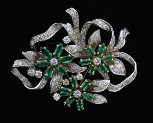 diamond garland brooch