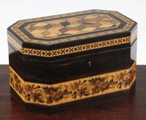 ebony tea caddy
