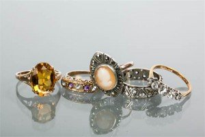gem set rings