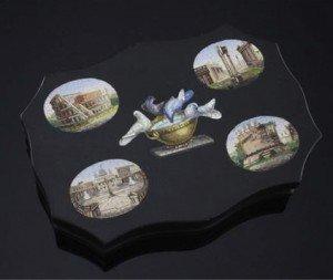 micro mosaic paperweight