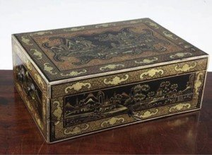 lacquer sewing box