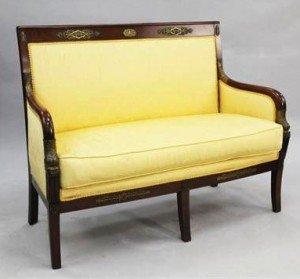 mahogany settee