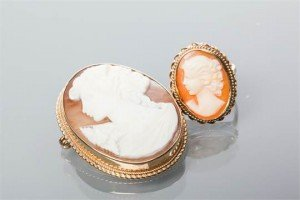 cameo brooch and ring set