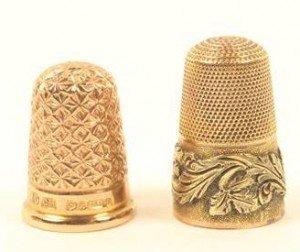 gold thimbles