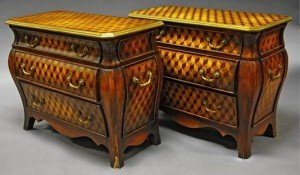 brass mounted commodes