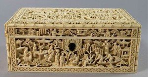 Canton ivory work box
