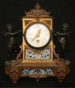 Champleve Strut Clock