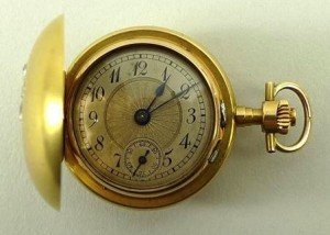 hunting cased pocket watch