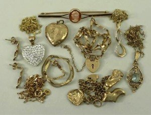 9ct gold jewellery