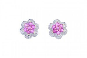 floral cluster ear studs