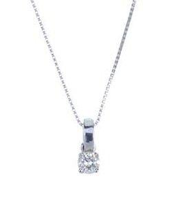diamond single-stone pendant