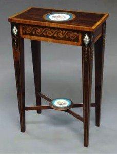 porcelain mounted table