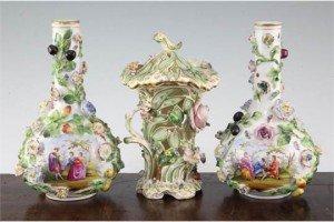 Potschappel bottle vases