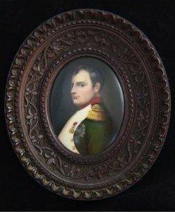 porcelain oval portrait plaque