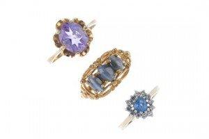 gem-set rings
