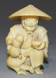 ivory okimono carving