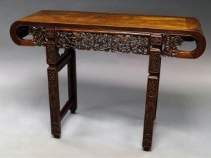hardwood scroll table
