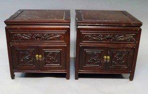 hardwood bedside cabinets