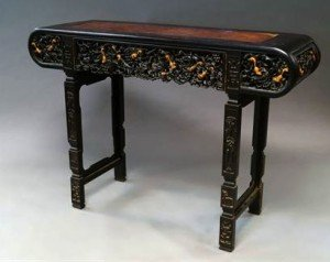rosewood scroll table